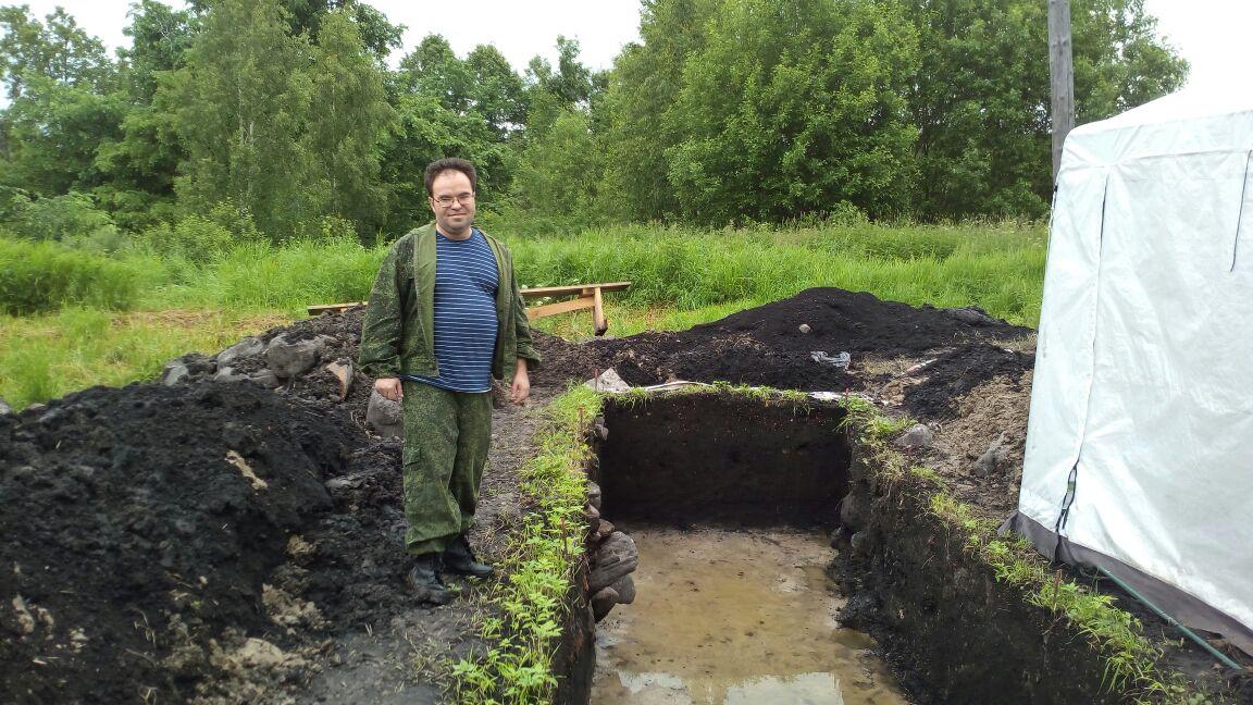 Антон Валентинович Шипилов на раскопках в Унороже 2017 года