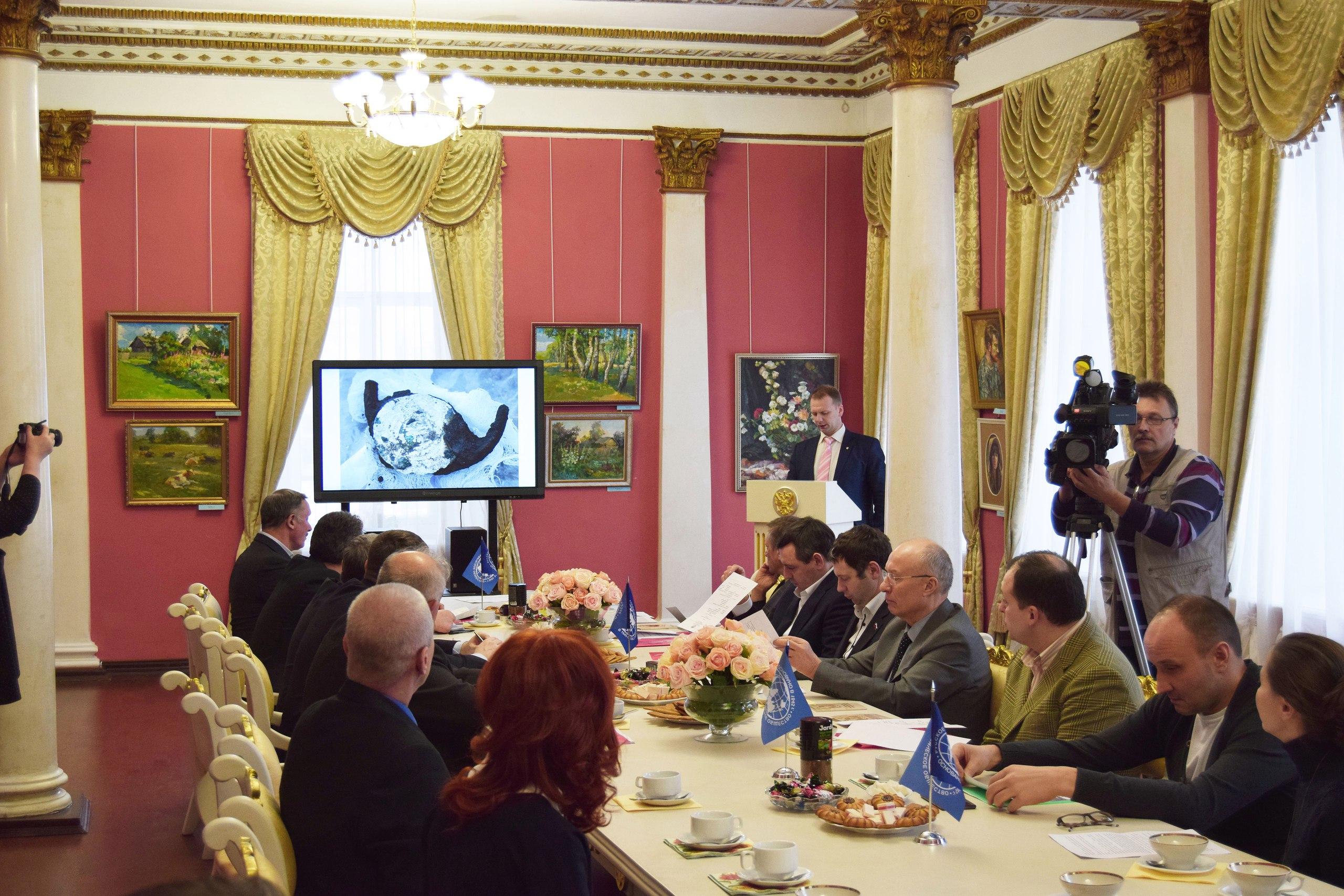 Выступление председателя областного отделения РГО Романа Рябинцева на Попечительском совете