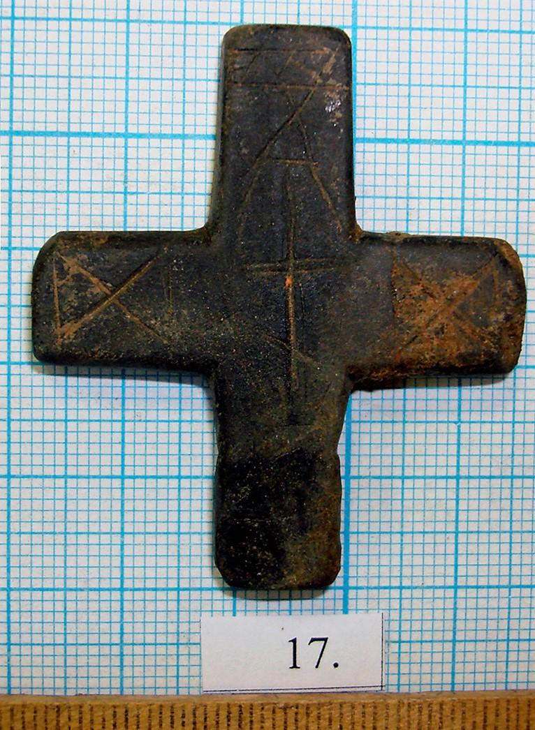 Каменный тельник с рисунком из Костромы