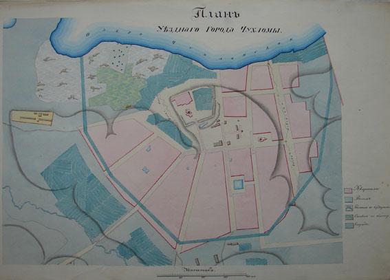 План уездного города Чухлома