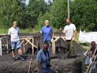 Процесс раскопок на городище Унорож